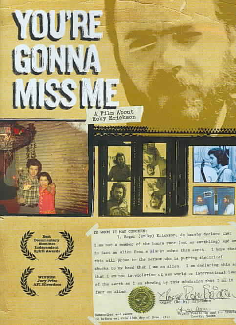 YOU'RE GONNA MISS ME BY ERICKSON,ROKY (DVD)